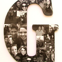 Custom Wooden Photo Letter Collage -  Great for weddings, birthdays, baby showers, and home decor