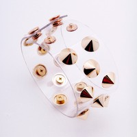 Spikes On You Bracelet - Gold/Clear