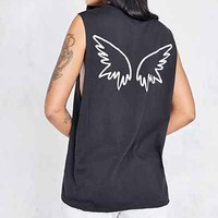 Truly Madly Deeply Angel Wing Muscle Tee - Urban Outfitters