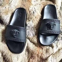 Versace tide brand men and women fashion slippers F