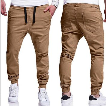 INCERUN 2018 Summer Men Leisure Causal Harem Pants New Fashion Hip Hop Chinos Trousers Joggers Cotton Sweatpants Elastic Cuff
