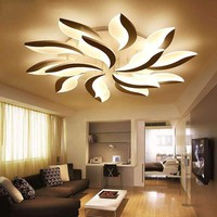 LED Ceiling Chandelier Lights For Living Room Bedroom AC85~260V Flower Shape Dimming Chandeliers Home Decor Lighting Fixtures