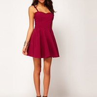 ASOS Skater Dress In Bengaline at asos.com