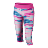 Nike Legend Allover Print Tight Fit Girls' Training Capri Pants Size Medium (Pink)