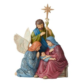 Jim Shore HWC Victorian Holy Family & Angel - 6004185