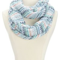 Tribal Chevron Print Infinity Scarf by Charlotte Russe