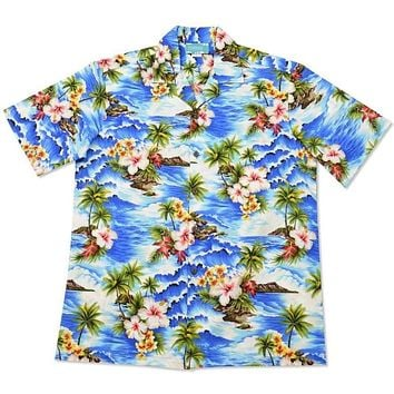 lagoon hawaiian cotton shirt