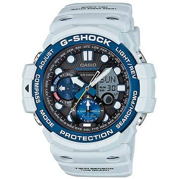 Casio G-Shock Gulfmaster Twin Sensor - Tide Function - White with Blue Accents