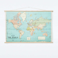 World Map Poster - Urban Outfitters