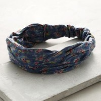 Blue Garden Turban Band by Anthropologie in Blue Size: One Size Hair