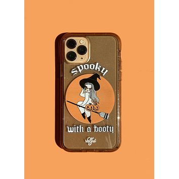Spooky With A Booty Glitter Phone Case