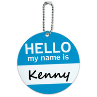 Kenny Hello My Name Is Round ID Card Luggage Tag
