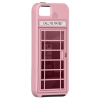 Funny Call Me Maybe Pink Phone Box iPhone 5 Case from Zazzle.com
