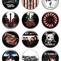 """Set of 12 New My Chemical Romance 1.25"""" Pinback Button Badge Pin"""