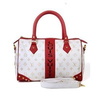 Louis Vuitton LV Women Fashion Leather Satchel Handbag Shoulder Bag Crossbody