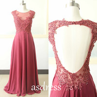 Burgundy Lace Prom Homecoming gown Pageant Gown grapes Long Mother Of the bridal Dress Cap Sleeve Bridal Lace Gown Chiffon Bridesmaid dress