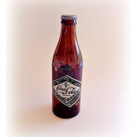Amber Coca Cola 75th Anniversary Coke Bottle by vintage19something