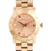 Marc By Marc Jacobs Amy Rose Gold Watch at asos.com