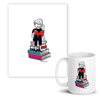'...Fill up & Live!'  February 2020- Charitable Limited Edition philoSophie's Print & Mug Set