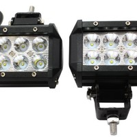 TMS LED-XT-18W30D-K 18W 1260LM CREE Spot Led Work Light Bar Black for off-Road SUV Boat 4x4 Jeep, 2 Piece