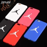 JAMULAR Basketball Jordan Case For iphone 7 6 6S Plus X SE Matte Hard Plastic Phone Cases for iPhone 8 6 6s 7 Plus Back Cover