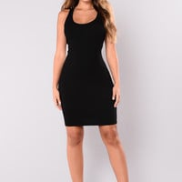One Of The Guys Mini Dress - Black