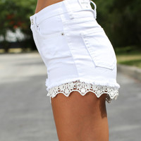 Take The Cake Shorts - White