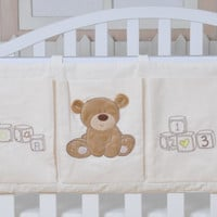Baby Bed Hanging Storage Bag Cotton Newborn Crib Organizer Toy Diaper Pocket for Crib Bedding Set Accessories