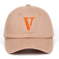 Live Vlone Dad Hat A$AP Mob Baseball Cap Letter V Hip Hop Rocky Bari Snapback Hats 100% Cotton Kanye West for Women Men Friends