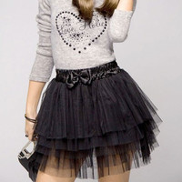 Fashion Women New Cute Lace Gauze Girl's Full Tutu Tulle Tier 5 Layers Mini Short Skirts Free Size SN9
