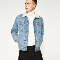 DENIM AND SHEEPSKIN JACKETDETAILS
