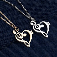 Music Note Pendant & Necklace