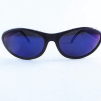 Vintage Sunglasses, Mens Sunglasses, Outdoor Sports Glasses, Blue Mirror Lenses, NOS New Old Stock