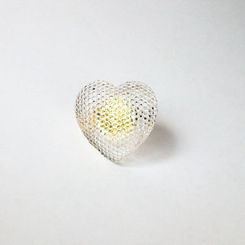 RESIN RING Shiny HEART. love resin gift.  showy-chic ring