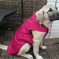 High recommend warm large dog coat fleece fabric inner big dog jacket  keep warm pet clothes XS-XXXXL fit different size dog