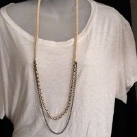 Braided Antique Brass TShirt Necklace by BunnyMoonDesigns on Etsy