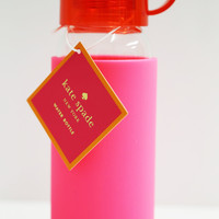 Glass Water Bottle Red + Pink: Kate Spade