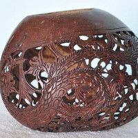 Carved Coconut with Dragon Design II