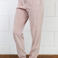 Soft Plush Jogger Pants {Dusty Pink}