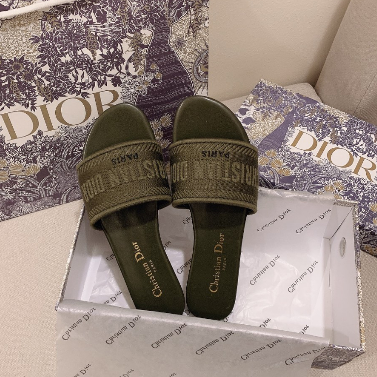 Image of Dior spring summer holiday series embroidered slippers