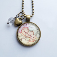 Map of Paraguay Necklace - South America - Custom Jewelry - Travel Necklace - You Choose Bead and Charm - Personalized - Asuncion Paraguay