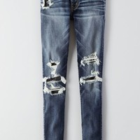 AEO Women's Denim X Jegging (Destructed Indigo)