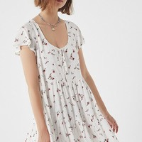 UO Floral Tiered Babydoll Dress | Urban Outfitters