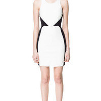 FAUX LEATHER COMBINATION DRESS - Dresses - Woman | ZARA United States