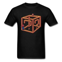 Lasting Charm Mystery Box Sports T-shirt Men Super Mario T Shirt Novelty Game Question Mark GG Geometric Tshirt