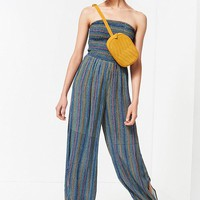 UO Strapless Smocked Jumpsuit   Urban Outfitters
