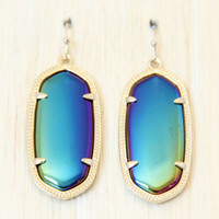 Kendra Scott Elle Earrings - Black Iridescent