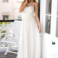 Beige Sequined Prom Dress