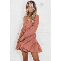 Into Your Arms Blush Tiered Dress