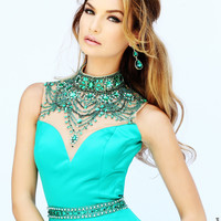 Sherri Hill Beaded Halter Prom Dress 32144